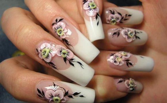 дизайн нарощенных ногтей в