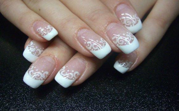 легкий дизайн ногтей гель